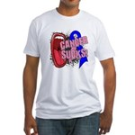 Male Breast Cancer Sucks Fitted T-Shirt
