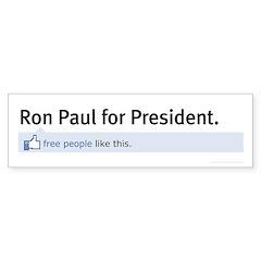 Ron Paul Status Update Bumper Sticker