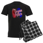 Male Breast Cancer Sucks Men's Dark Pajamas
