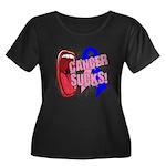 Male Breast Cancer Sucks Women's Plus Size Scoop N