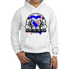 Male Breast Cancer Ride Hooded Sweatshirt