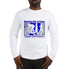 Moving MaleBreastCancer Cure Long Sleeve T-Shirt