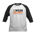 Custom I Wear Leukemia Kids Baseball Jersey