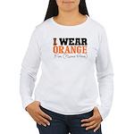 Custom I Wear Leukemia Women's Long Sleeve T-Shirt