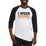 Custom I Wear Leukemia Baseball Jersey