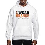 Custom I Wear Leukemia Hooded Sweatshirt