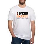 Custom I Wear Leukemia Fitted T-Shirt