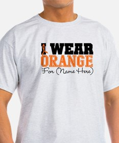 Custom I Wear Leukemia T-Shirt