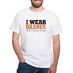 Custom I Wear Leukemia White T-Shirt