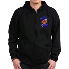 Knock Out Male Breast Cancer Zip Hoodie