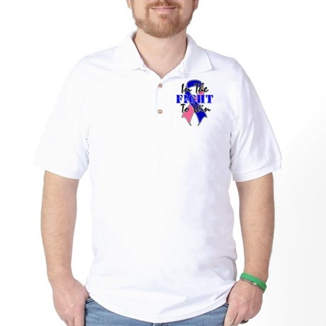 Male Breast Cancer Fight Golf Shirt