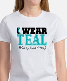 Custom Teal Ovarian Cancer Tee