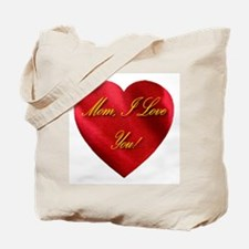 Mom, I Love You! Golden Scrip Tote Bag