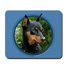 Miniature Pinscher Art Mousepad (Blue)