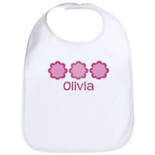 OLIVIA Pretty Pink Flowers  Bib