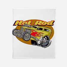 Funny Hot rod Throw Blanket