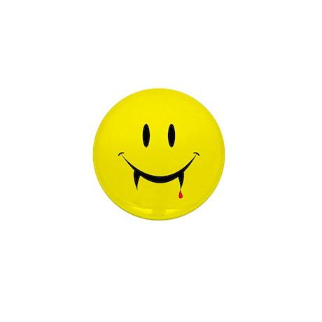 Vampire Smiley Mini Button (100 pack)