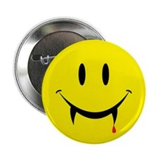 """Vampire Smiley 2.25"""" Button"""