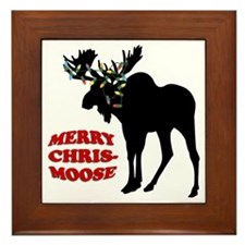 Merry Chrismoose Framed Tile