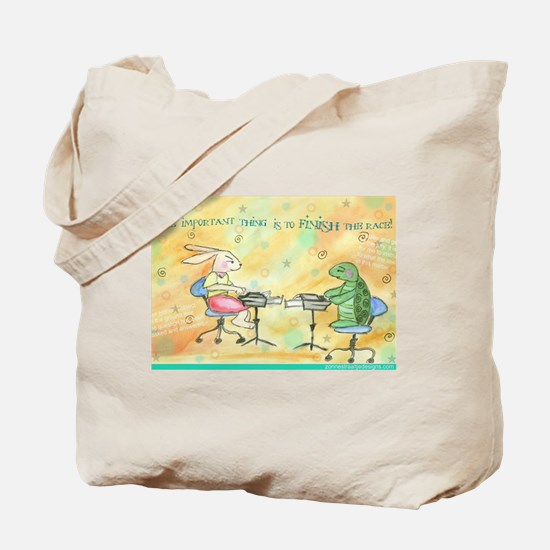 Finish the Race Tote Bag