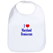 I Love Maryland Democrats Bib
