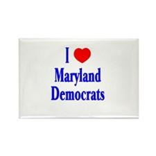 I Love Maryland Democrats Rectangle Magnet