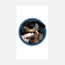 Rottweiler Art Rectangle Decal