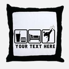 EAT-SLEEP-TKD Throw Pillow