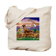 Autumn Angel / Irish Setter Tote Bag