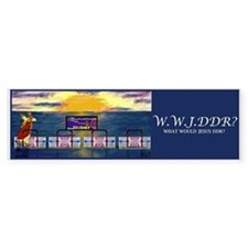 WWJDDR Bumper Sticker (Blue)