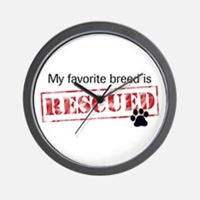 Favorite Breed Is Rescued Wall Clock