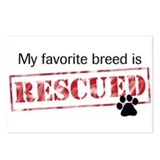 Favorite Breed Is Rescued Postcards (Package of 8)