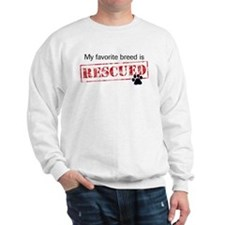 Favorite Breed Is Rescued Sweatshirt