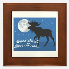 Once In A Blue Moose Framed Tile