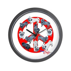Pugs for Peace Wall Clock