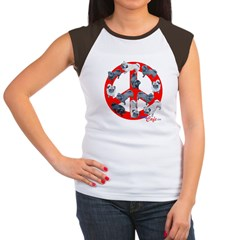 Pugs for Peace Women's Cap Sleeve T-Shirt