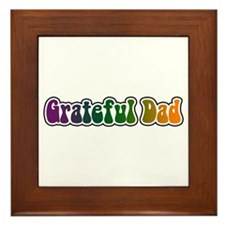 Grateful Dad Framed Tile
