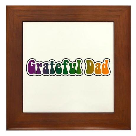 Grateful Dad Framed Tile