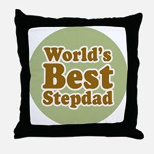 World's Best Stepdad Throw Pillow