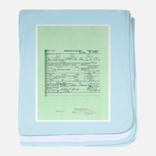 Obama Birth Certificate baby blanket