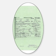 Obama Birth Certificate Decal
