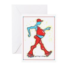 """Getting in Shape"" Greeting Cards (Pk of 10)"