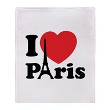 I love Paris Throw Blanket