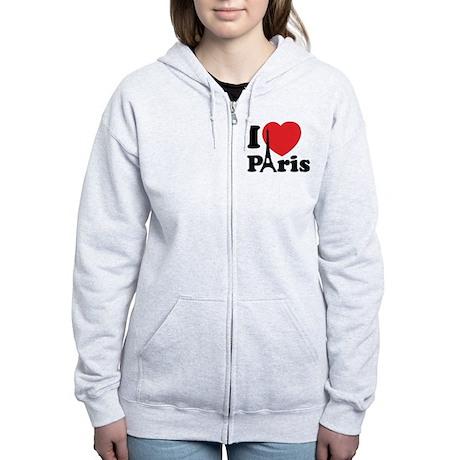 I love Paris Women's Zip Hoodie