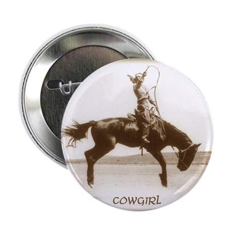 """cowgirl (she is SO up!) 2.25"""" Button (10 pack)"""