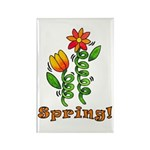 Spring Flowers Rectangle Magnet