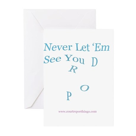 Dropping words! Greeting Cards (Pk of 10)