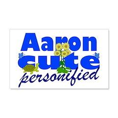 Cute Aaron 22x14 Wall Peel