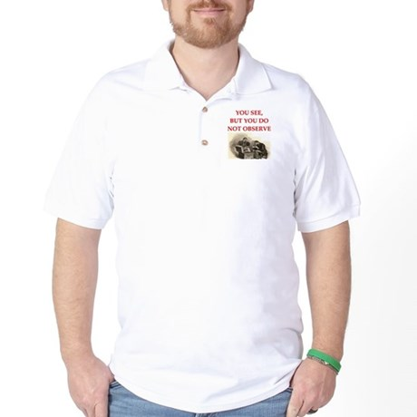 sherlock holmes Golf Shirt