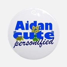 Cute Aidan Ornament (Round)